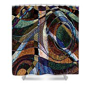 Atlanta Solis Abstract Art Shower Curtain