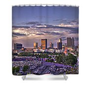 Atlanta Sunset Fulton County Stadium Braves Game  Shower Curtain