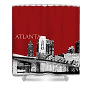 Atlanta World Of Coke Museum - Dark Red Shower Curtain