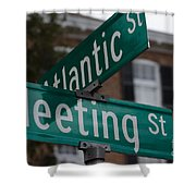 Atlantic And Meeting St Shower Curtain