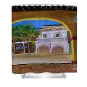 Atlantic Ave From The Shade Of Hands Shower Curtain