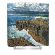 Atlantic Breakers Pontal Portugal Shower Curtain