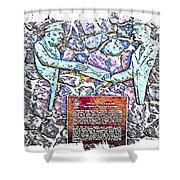 Atlantic Charter Monument Shower Curtain