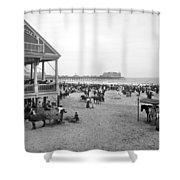 Atlantic City Beach, C1900 Shower Curtain