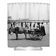 Atlantic City Beach, C1901 Shower Curtain