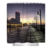 Atlantic City Boardwalk In The Morning Shower Curtain