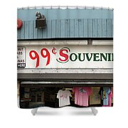 Atlantic City New Jersey - Souvenir Store Shower Curtain