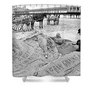 Atlantic City The Sandman Shower Curtain