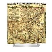 Atlantic Coast Line Railway Map 1885 Shower Curtain