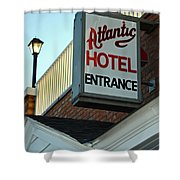 Atlantic Hotel Shower Curtain by Skip Willits