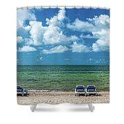 Atlantic Ocean At Smathers Beach In Key Shower Curtain