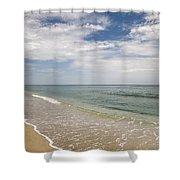 Atlantic Ocean Beach V Shower Curtain