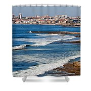 Atlantic Ocean Coast In Cascais And Estoril Shower Curtain