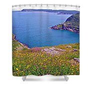 Atlantic Ocean From Signal Hill National Historic Site In Saint John's-nl Shower Curtain