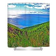 Atlantic Ocean View Point From Cape Breton Highlands National Park-nova Scotia Shower Curtain