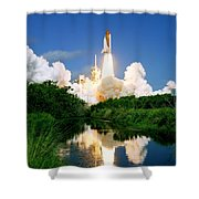 Atlantis Reflection Shower Curtain