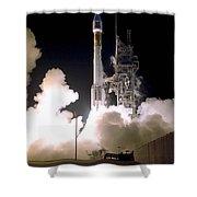 Atlas 2as Rocket Launch Shower Curtain