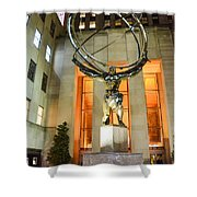 Atlas In Rockefeller Center Shower Curtain