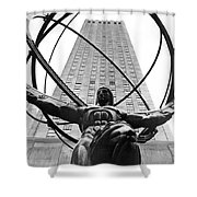 Atlas In Rockefeller Center Shower Curtain