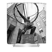 Atlas Of New York City Shower Curtain