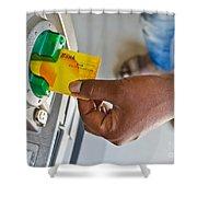 Atm Card Shower Curtain