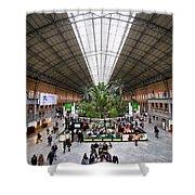 Atocha Railway Station Interior In Madrid Shower Curtain
