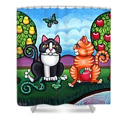 Atom And Eva Shower Curtain