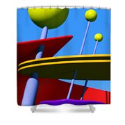 Atomic Dream Shower Curtain