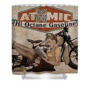 Atomic Gasoline Shower Curtain
