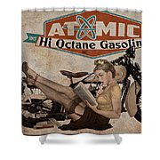 Atomic Gasoline Shower Curtain by Cinema Photography