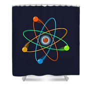 Atomic Structure Shower Curtain