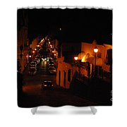 Atop Calle Hostos At Night Horizontal Shower Curtain