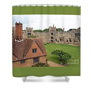 Atop The Castle Wall Shower Curtain