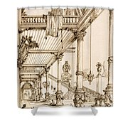 Atrium Of A Palace, In Genes, From Art Shower Curtain