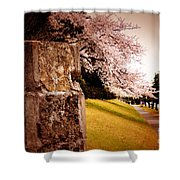 Atsugi Pillbox Walk   A1 Shower Curtain