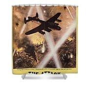 Attack Begins In Factory Propaganda Poster From World War II Shower Curtain