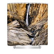 Attagar Falls In Western Ghats Shower Curtain