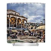 Attiki Metro Station Athens Shower Curtain