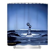 Attraction Water Droplets Shower Curtain