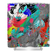 Attributes Of Aggression Three Shower Curtain