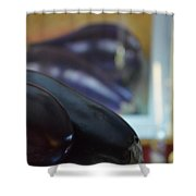 Aubergine A Go Go  Shower Curtain
