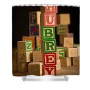 Aubrey - Alphabet Blocks Shower Curtain