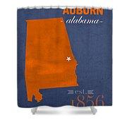 Auburn University Tigers Auburn Alabama College Town State Map Poster Series No 016 Shower Curtain