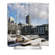 Auckland City View Shower Curtain