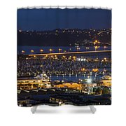 Auckland Marina Shower Curtain