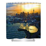 Auckland Oil On Canvaz Shower Curtain