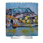 Audi Quattro On The Rocks Shower Curtain