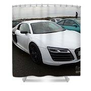 Audi R8 V10 Shower Curtain