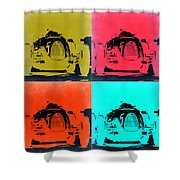 Audi Silver Arrow Pop Art 2 Shower Curtain