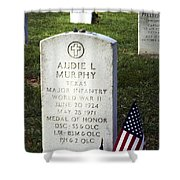 Audie Murphy - Most Decorated Shower Curtain